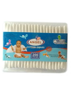 Little Angel Cotton Swabs - 200 Pieces