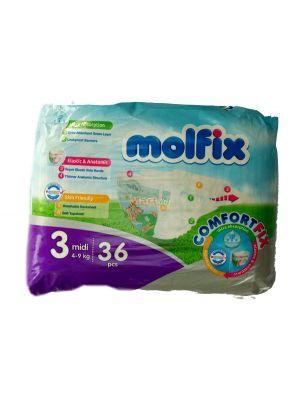 Molfix Baby Diaper Size 3 Midi (4-9kg) 36 Pieces