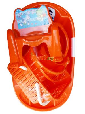 Baby Bath Set - Orange