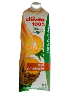 Chivita Real Pineapple 100% Fruit Juice - 1lt
