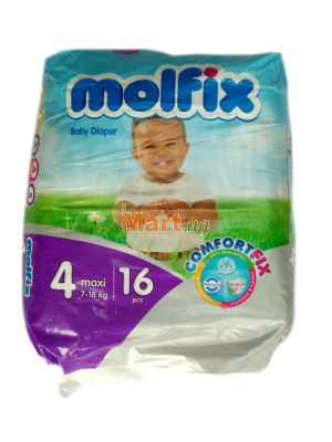 Molfix Baby Diaper Size 4 Maxi (7-18kg) 16 Pieces