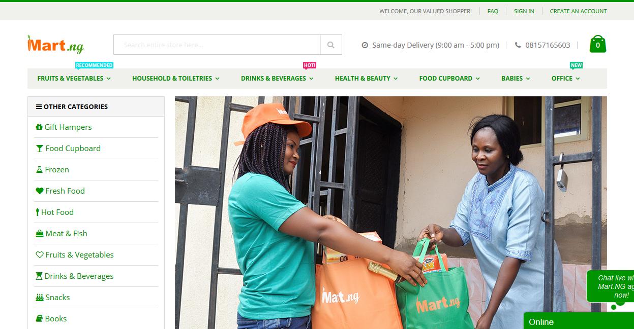 Mart.NG Homepage